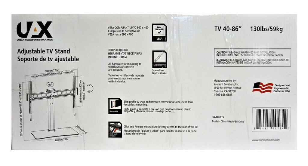 UAX 40 in - 86 in Table Top Adjustable TV Stand   Ebay