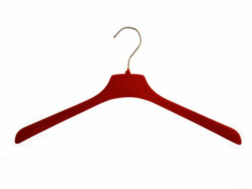 42cm Blusenbügel rot edler Samtbügel für Oberteile NEU 15 Stück