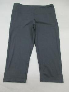 Zella-Size-M-Womens-Black-Elastic-Waistband-Cropped-Yoga-Capri-Pants-822