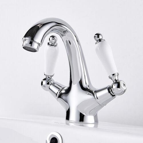 Design Waschtisch-Armatur Zweigriff Waschbecken Wasserhahn Bad Armatur Nostalgie