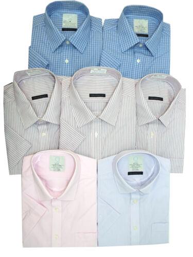 Marks /& Spencer Manica Corta Camicie-Colletto Taglia 15.5-18.5 in 4 COLORI