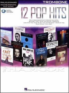 12 Pop Hits Instrumental Play-along For Trombone Partitions Livre Audio/adele-afficher Le Titre D'origine Bon GoûT