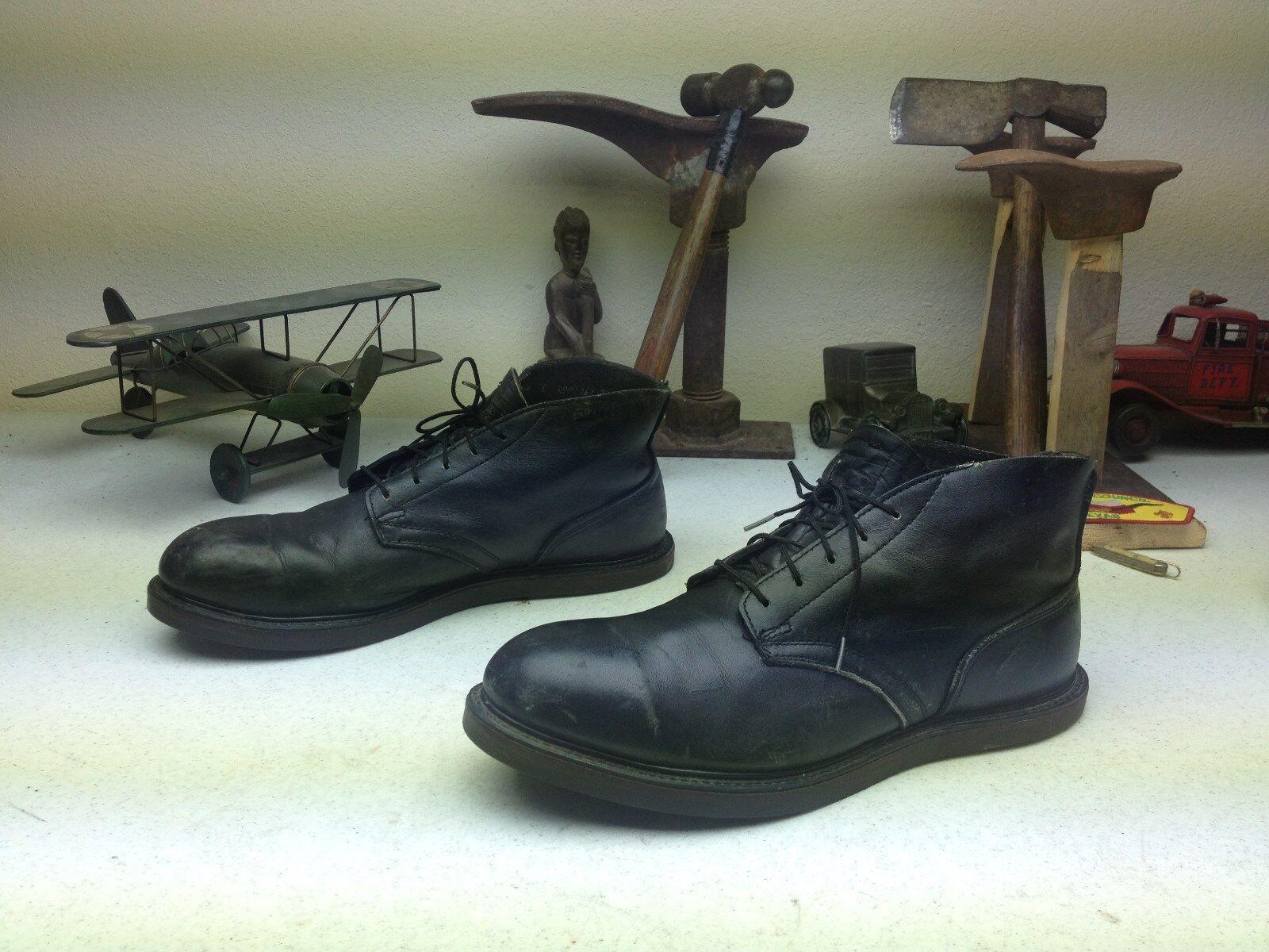 1986 Negro Envejecido Militares Puntera De Acero Chukka lazada Goodyear botas 9.5 m
