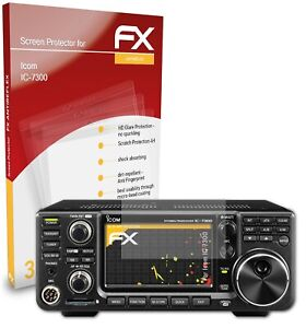 atFoliX 3x Screen Protection Film for Icom IC-7300 matt&shockproof