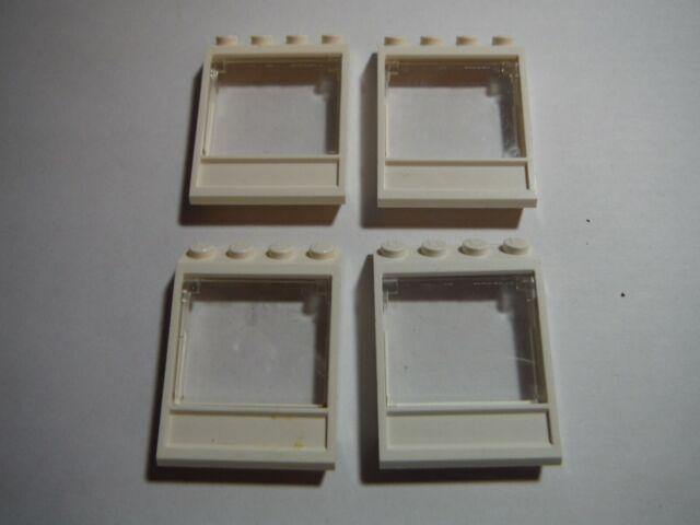 LEGO 8 REDDISH BROWN WINDOW FRAMES W// CLEAR GLASS TOWN CITY 1 X 4 X 6  HOUSES