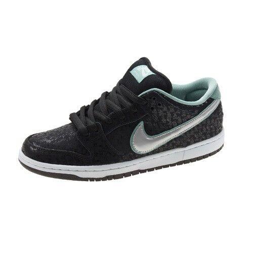 Nike DUNK LOW PRO PREMIUM SB Black Metllic Platinum 573901-002 (239) Men's shoes