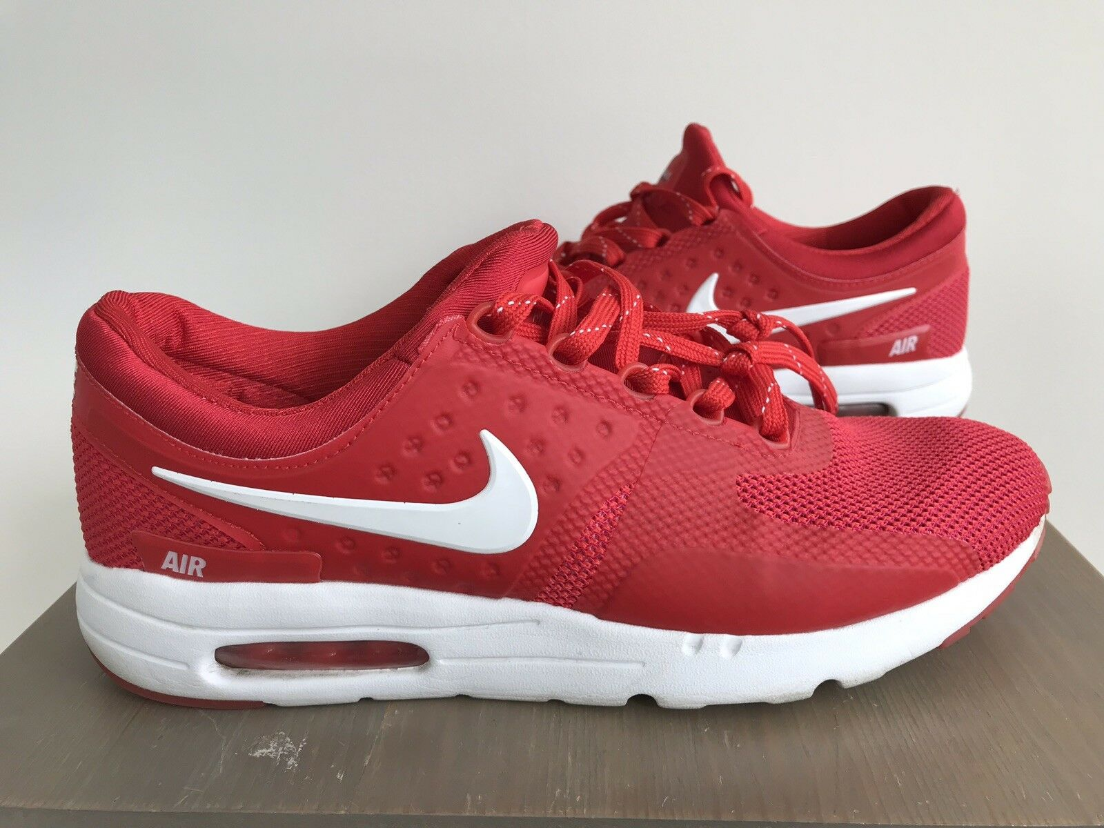 new styles 229fc 3d2c2 Nike Air Max Zero Chaussures Rouge Tinker Hatfield 789695-005 Homme Taille  12 0826 81207