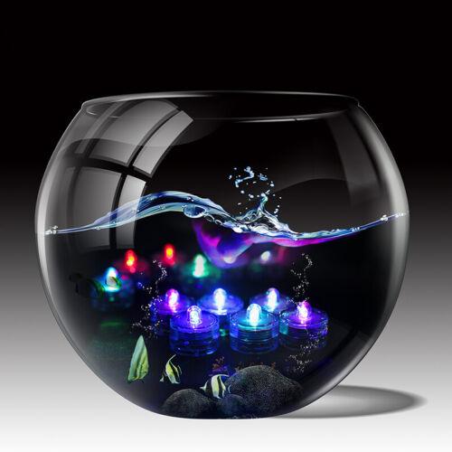 Farben 12er Set LED Teelichter Wasserdicht Unterwasser Schwimmkerze versch