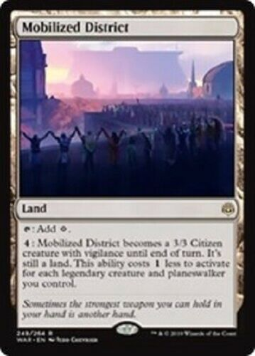 MTG magic 1x Mobilized District (M/NM) War of the Spark