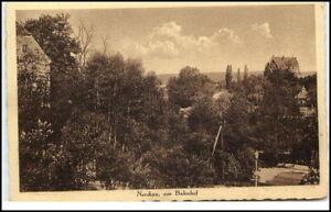 NERCHAU Partie am Bahnhof 1929 Dt. Reich AK Bedarfspost gelaufene Postkarte