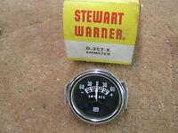 Stewart Warner Black Face Ammeter Amp Gauge D-375-x Ford Gm Chevrolet Etc.