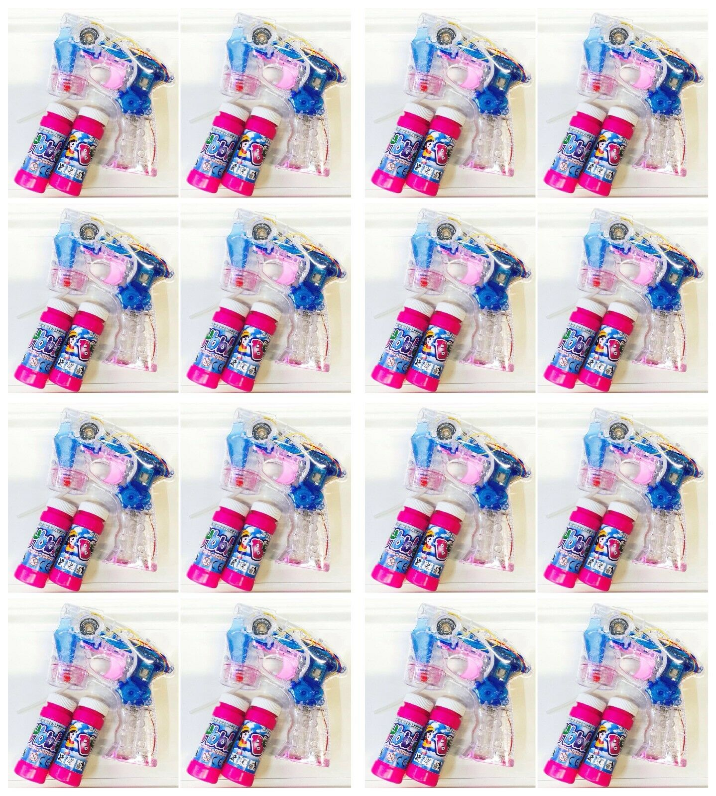 25 x Bulles de savon Pistolet avec DEL bulles de savon poisson Bubble Gun Batterie gratuit