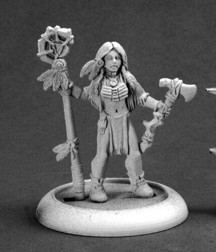 Reaper Miniature Dark Haven Legend Femail Indian Shaman Savage Worlds RPR 59010