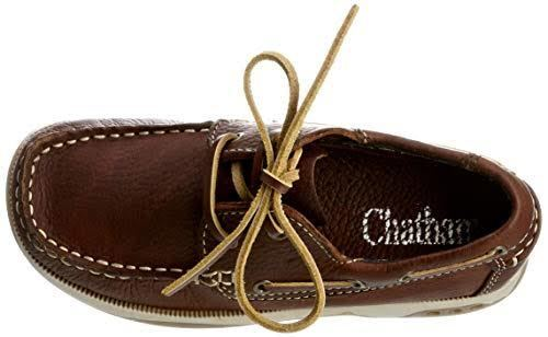 Chatham Skipper Kids Boys Mens Boat Deck Leather Lace Up Casual Smart Shoes New