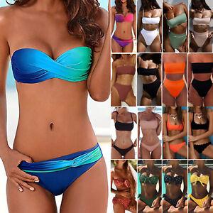 Women-Bandeau-Bikini-Set-Push-Up-Padded-Top-Thong-Swimwear-Bathing-Suit-Swimsuit