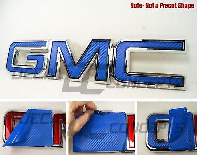 07-20  GMC Sierra Yukon Blue Camo Front Grill Emblem Overlay decal WRAP
