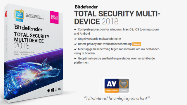 Bitdefender Total Security Multi-Device 2018-5 Devices - 3 Months Subscription