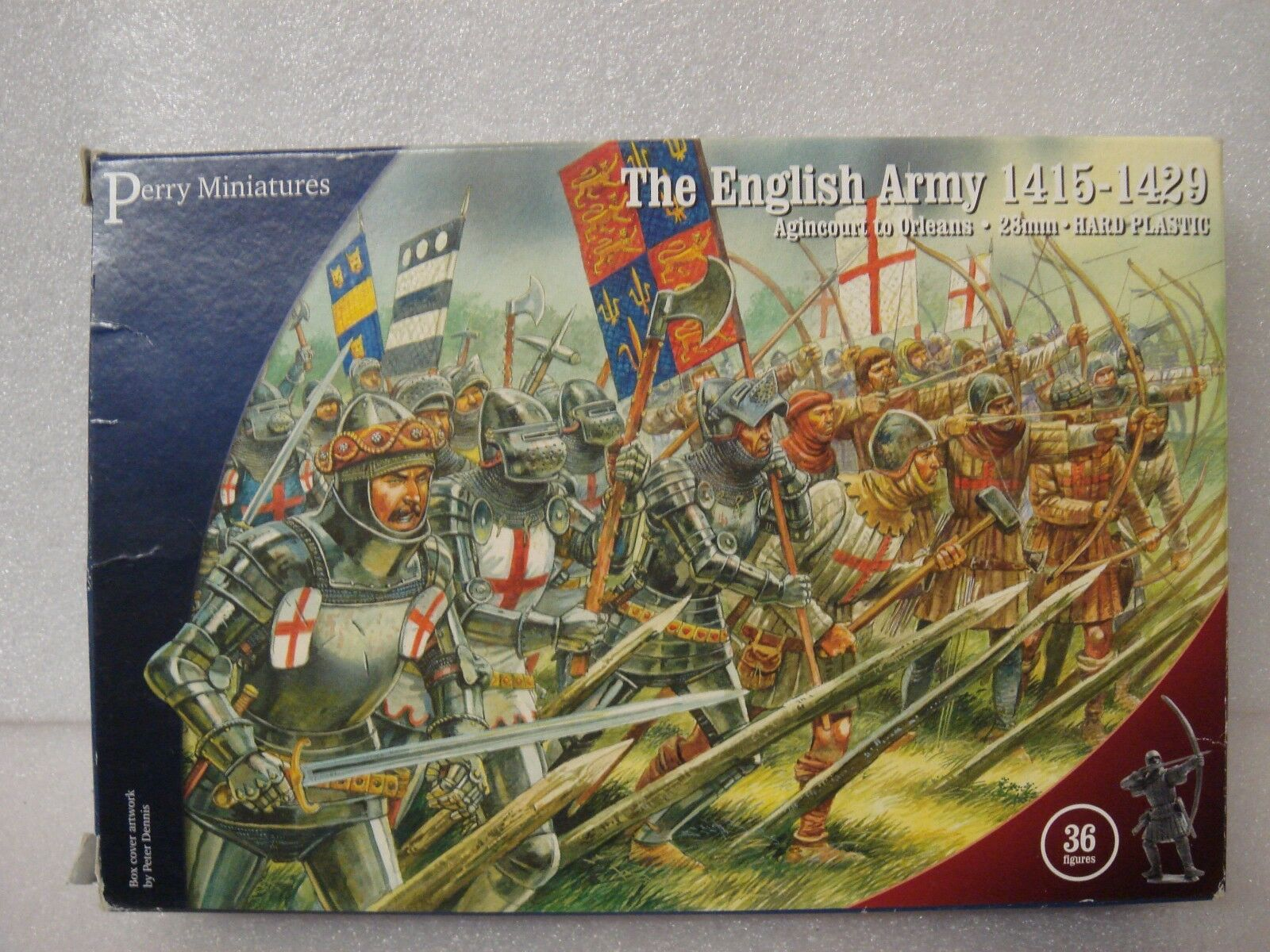 PERRY MINIATURES - THE ENGLISH ARMY 1415-1429 -  28mm HARD PLASTIC .2 BOXES