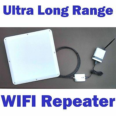 2 Mile! SuperLinxs 45dBm Long Range WIFI Repeater Antenna Router Booster  Combo | eBay