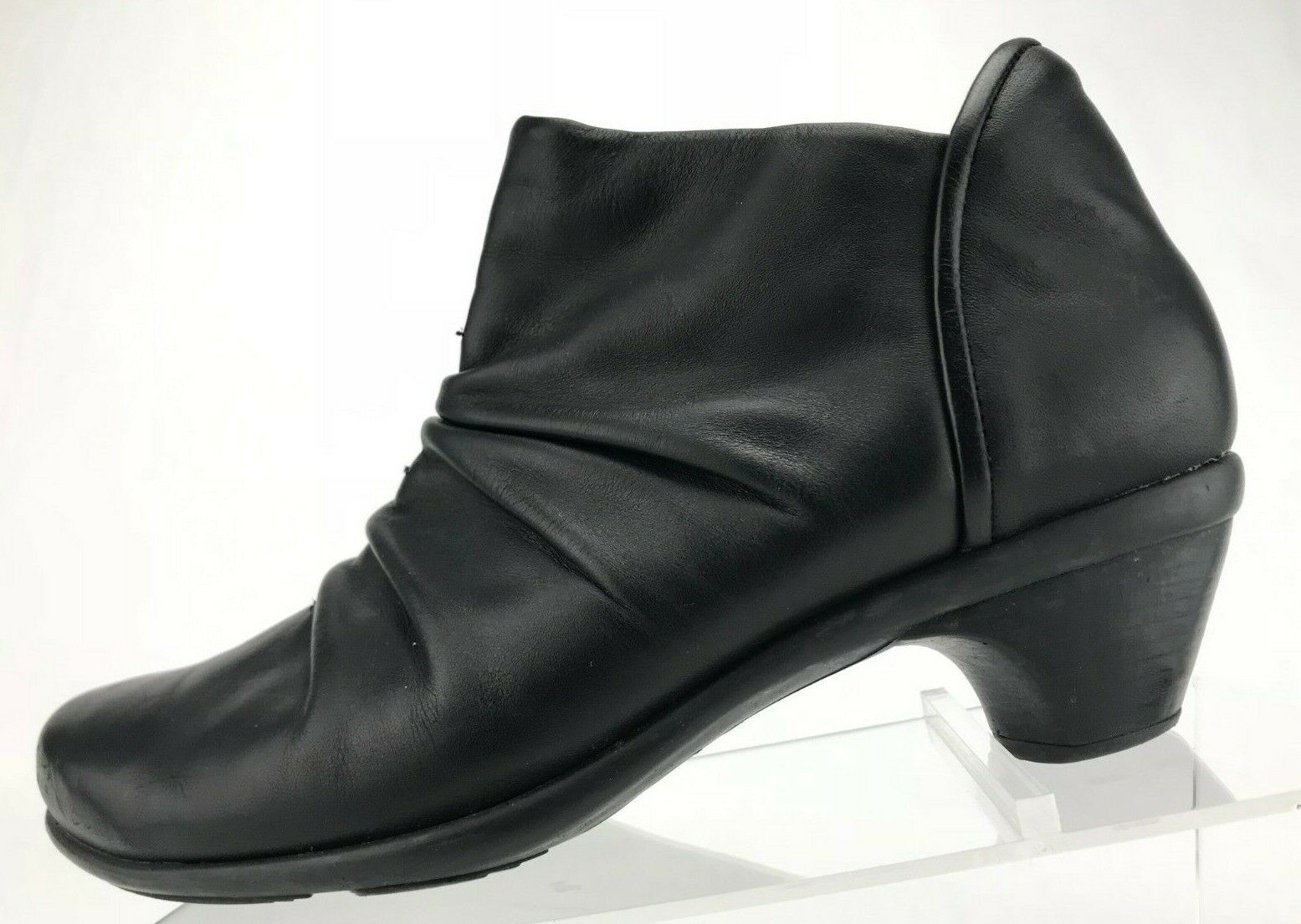 Naot botas al tobillo moda Cuero Negro Cremallera Lateral Lateral Lateral Slouch Botines para mujer 40 9,9 .5  primera reputación de los clientes primero