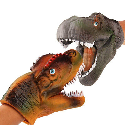 Dinosaur Hand Puppets Role Play Realistic Spinosaurus Head Gloves Soft Toy Gift