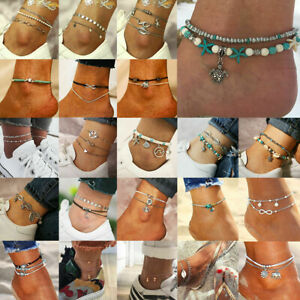 New-Women-Gold-Silver-Ankle-Bracelet-Anklet-Adjustable-Chain-Foot-Beach-Jewelry