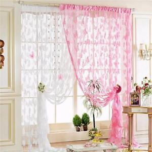 Butterfly-Animal-Panel-Valances-Tassel-Window-Drape-Curtains-Voile-Thin-Sheer