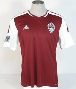 Image is loading Adidas-ClimaCool-Colorado-Rapids-Burgundy-Short-Sleeve- Soccer- 3ba350476