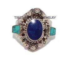 Adjustable Turquoise Ring Boho ring Lapis ring Tibetan ring Tibet Ring RB12