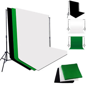 Photo Photography Lighting Studio Muslin Cotton Backdrop Video Background Stand