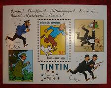 """SUPERBE BLOC N°28 """"TINTIN"""" de 2000 NEUF** cote 2,75 euro LUXE !!!"""