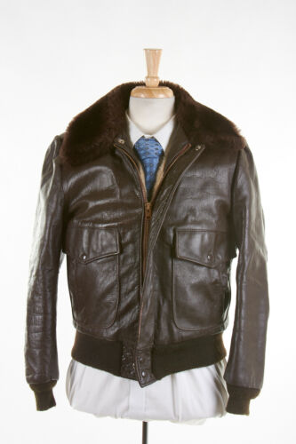 Vintage 70s EXCELLED Leather Jacket 40 in Cocoa Br