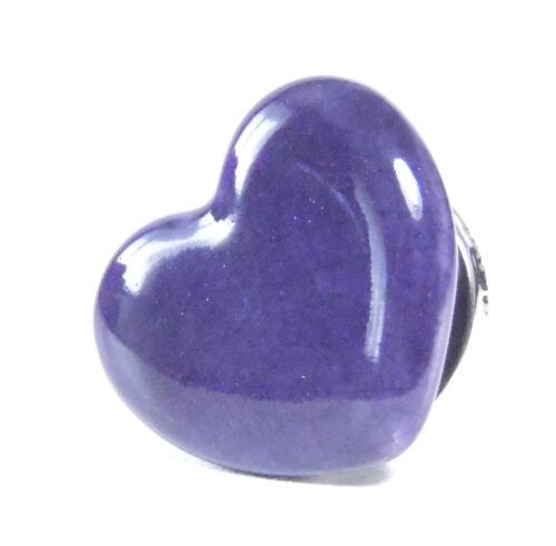 Möbelknopf 4,5 cm Ø Keramik violett Herz 4,5 cm Ø Schrankknöpfe
