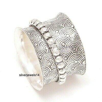 """Granet 925 Sterling Argent Spinner méditation Anneau Statement Ring aa2892/"""""""