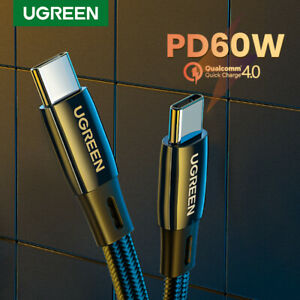 Ugreen-USB-C-Cable-60W-Type-C-Fast-Charging-PD-Cable-For-Samsung-S20-Macbook-Pro