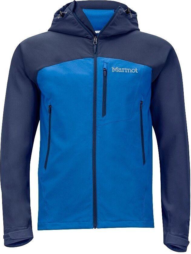 Marmot Estes Sudadera Hombre, Ligero Kapuzen-Softshell para True bluee  , size S  on sale 70% off