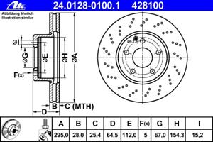 ATE 24.0128-0100.1 Bremsscheibe 2 Stück