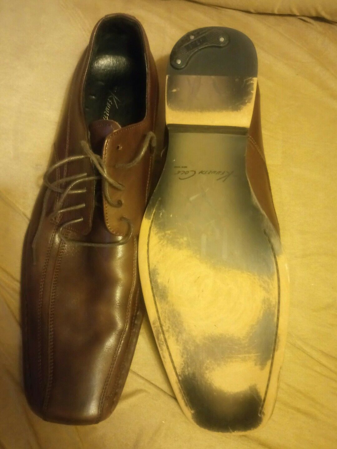 Kenneth Cole 12 run for cover Größe 12 Cole men braun leather dress casual schuhe f97c09