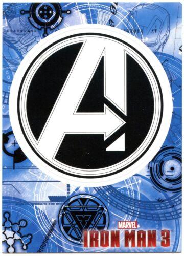 C2071A Avengers Symbol #IM3-42 Iron Man 3 Upper Deck 2013 Marvel Card Sticker