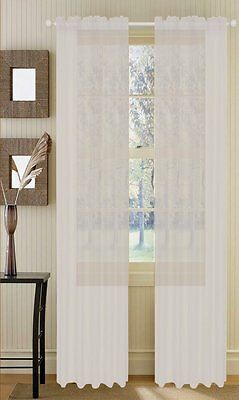 1 Piece Sheer Voile Window Curtain Panel drape- more than 15 colors