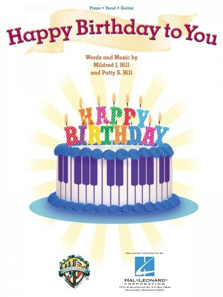 Happy Birthday to You Kids Song Piano Vocal Sheet Music Guitar ...