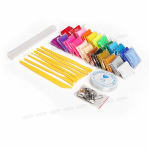 24-Colours-Oven-Bake-Polymer-Clay-Blocks-Tool-Craft-Set-Modelling-Sculpting