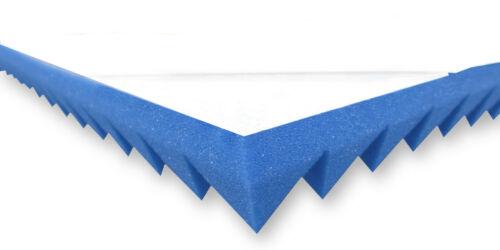 Pyramidenschaumstoff Blau 5cm SELBSTKLEBEND Akustik Schaumstoff Schall Dämmung
