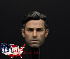 1/6 Ben Affleck Head Sculpt 2.0 Batman Bruce Wayne For Hot Toys Phicen Figure