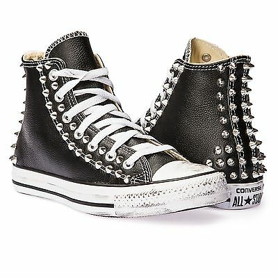 40e8b870df converse all star chuck taylor in pelle con borchie a piramide | eBay