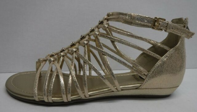 2bb16cbfab5ca G by Guess JONSIE Flat Strappy Sandals 197 Gold 7.5 US