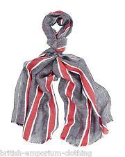 AQUASCUTUM Cotton & Linen Nautical Stripe Scarf BNWT