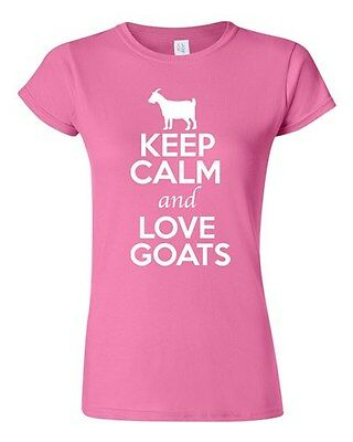 Keep Calm And Love Goats Billy Goat Farm Animal Lover Youth Kids T-Shirt Tee