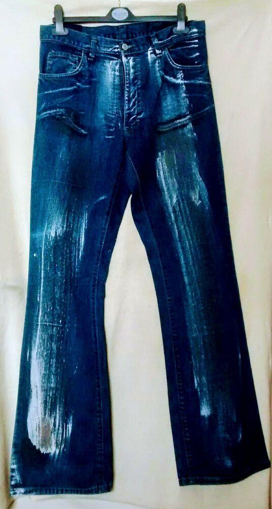 Bon CœUr Hommes Criminal Damage Bleu Délavé Long Denim Jeans Taille Uk-30 Neuf Quell Summer Soif