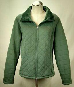 Veste Femme The XL Manteau Vert Taille Matelassée Fourrure Face North De Zippé Doublé Fausse qw1tp